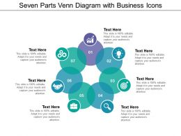 Seven Parts Venn Diagram With Business Icons