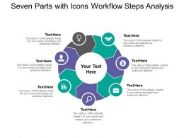 Seven Parts With Icons Workflow Steps Analysis