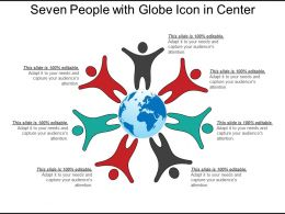 Seven People With Globe Icon In Center