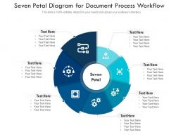 Seven Petal Diagram For Document Process Workflow Infographic Template