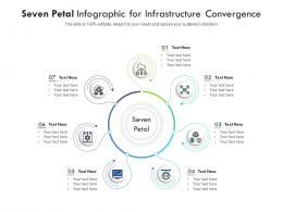Seven Petal For Infrastructure Convergence Infographic Template