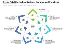 Seven Petal Illustrating Business Management Functions