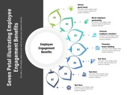 Seven Petal Illustrating Employee Engagement Benefits