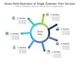 Seven Petal Illustration Of Single Customer View Services Infographic Template