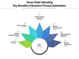 Seven Petal Indicating Key Benefits Of Business Process Automation
