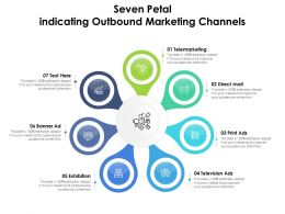 Seven Petal Indicating Outbound Marketing Channels