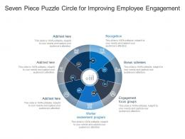 Seven Piece Puzzle Circle For Improving Employee Engagement