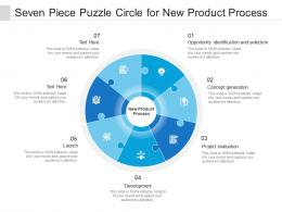 Seven Piece Puzzle Circle For New Product Process