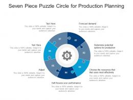 Seven Piece Puzzle Circle For Production Planning