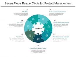Seven Piece Puzzle Circle For Project Management