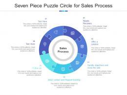 Seven Piece Puzzle Circle For Sales Process