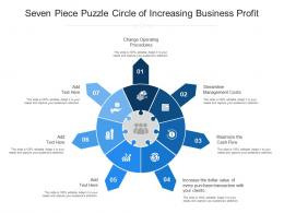Seven Piece Puzzle Circle Of Increasing Business Profit