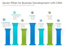 Seven Pillars For Business Development With CRM