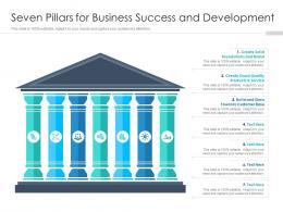 Seven Pillars For Business Success And Development