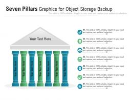 Seven Pillars Graphics For Object Storage Backup Infographic Template