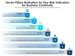Seven Pillars Illustration For Key Risk Indicators For Business Continuity Infographic Template