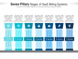 Seven Pillars Stages Of Saas Billing Systems Infographic Template