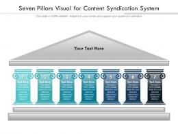 Seven Pillars Visual For Content Syndication System Infographic Template