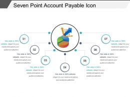 Seven Point Account Payable Icon Powerpoint Templates