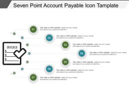 Seven Point Account Payable Icon Tamplate Powerpoint Themes