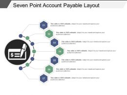 Seven Point Account Payable Layout Ppt Diagrams