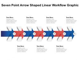 Seven Point Arrow Shaped Linear Workflow Graphic
