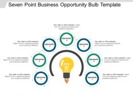 Seven Point Business Opportunity Bulb Template Powerpoint Slide Ideas