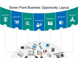 Seven Point Business Opportunity Layout Powerpoint Slide Show