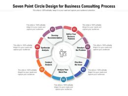 Seven Point Circle Design For Business Consulting Process