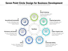 Seven Point Circle Design For Business Development
