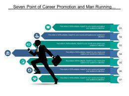 Seven Point Of Career Promotion And Man Running With Briefcase Graphic