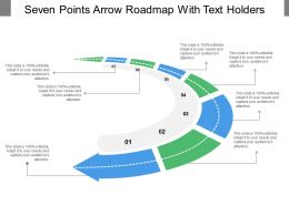 Seven Points Arrow Roadmap With Text Holders