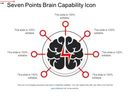 Seven Points Brain Capability Icon PPT Sample