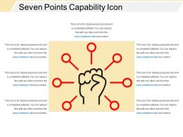 Seven Points Capability Icon Ppt Slide Examples