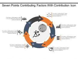 Seven Points Contributing Factors With Contribution Icon
