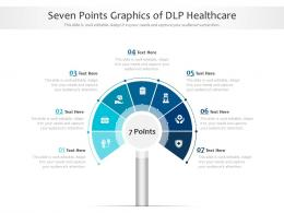 Seven Points Graphics Of DLP Healthcare Infographic Template