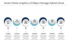 Seven Points Graphics Of Object Storage Hybrid Cloud Infographic Template