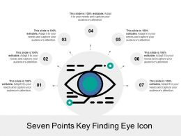Seven Points Key Finding Eye Icon