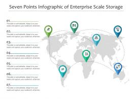 Seven Points Of Enterprise Scale Storage Infographic Template