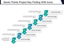 Seven Points Project Key Finding With Icons