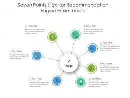 Seven Points Slide For Recommendation Engine Ecommerce Infographic Template