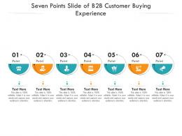 Seven Points Slide Of B2B Customer Buying Experience Infographic Template