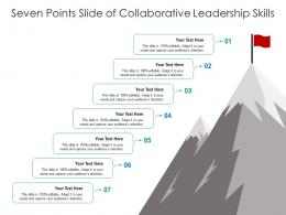 Seven Points Slide Of Collaborative Leadership Skills Infographic Template