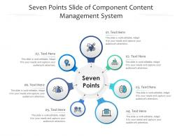 Seven Points Slide Of Component Content Management System Infographic Template