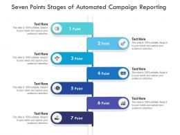 Seven Points Stages Of Automated Campaign Reporting Infographic Template