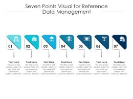 Seven Points Visual For Reference Data Management Infographic Template