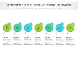 Seven Points Visual Of Virtual AI Assistant For Insurance Infographic Template