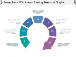 Seven Points With Arrows Forming Semicircle Graphic