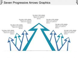 Seven Progressive Arrows Graphics