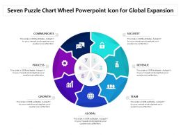 Seven Puzzle Chart Wheel Powerpoint Icon For Global Expansion
